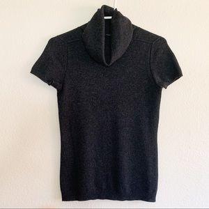 Magaschoni Cashmere Short Sleeve Turtleneck Top
